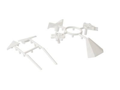 Комплект соединителей треугольного пристеночного бортика ALPHALUX (6 частей), пластик, белый Изображение 3