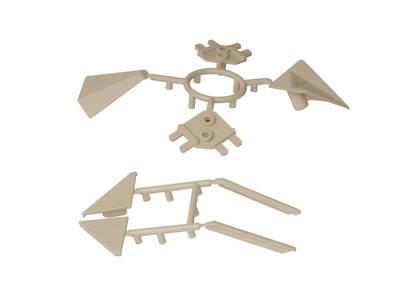 Комплект соединителей треугольного пристеночного бортика ALPHALUX (6 частей), пластик, бежевый Изображение 2