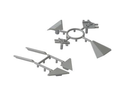 Комплект соединителей треугольного пристеночного бортика ALPHALUX, пластик, серый (6 частей) Изображение