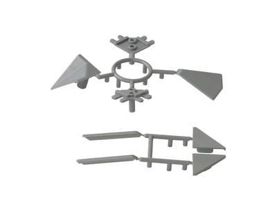 Комплект соединителей треугольного пристеночного бортика ALPHALUX, пластик, серый (6 частей) Изображение 3