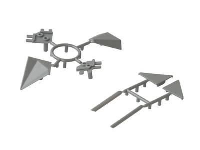 Комплект соединителей треугольного пристеночного бортика ALPHALUX, пластик, серый (6 частей) Изображение 4