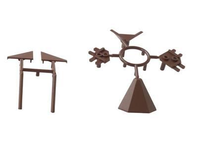 Комплект соединителей треугольного пристеночного бортика ALPHALUX (6 частей), пластик, темно коричневый Изображение