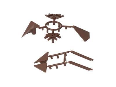 Комплект соединителей треугольного пристеночного бортика ALPHALUX (6 частей), пластик, темно коричневый Изображение 2