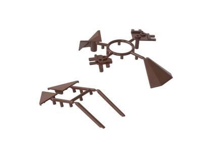 Комплект соединителей треугольного пристеночного бортика ALPHALUX (6 частей), пластик, темно коричневый Изображение 3