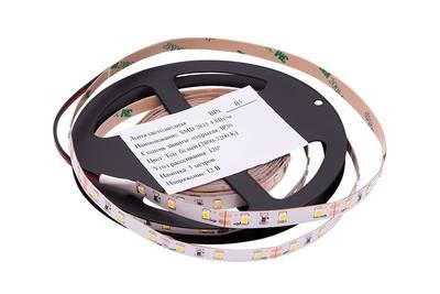 Лента светодиодная 2835/60, 12V, 5м, теплый белый 3200К, IP20, 4.8W/м Изображение