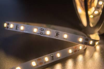 Лента светодиодная 2835/60, 12V, 5м, теплый белый 3200К, IP20, 4.8W/м Изображение 3