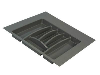 Лоток для столовых приборов Firmax, база 500-550мм, антрацит Изображение