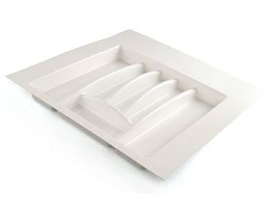 Лоток для столовых приборов Firmax Alpha, база 500-550мм, белый Изображение