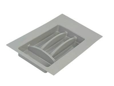 Лоток д/столовых приборов Firmax Alpha, база 300-350мм, серый Изображение