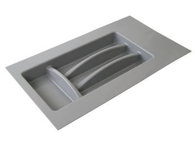 Лоток д/столовых приборов Firmax Alpha, база 300-350мм, серый Изображение 4