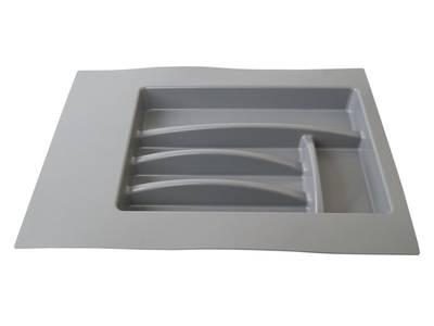 Лоток д/столовых приборов Firmax Alpha, база 400-450мм, серый Изображение 4