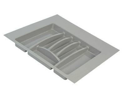 Лоток для столовых приборов Firmax Alpha, база 500-550мм, серый Изображение