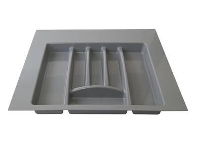 Лоток для столовых приборов Firmax Alpha, база 500-550мм, серый Изображение 4
