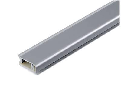 Пристеночный бортик прямоугольный SCILM (10х30 мм, L=4000 мм, алюминий) Изображение
