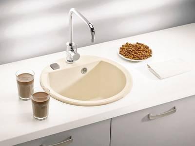 Кухонная мойка Alveus Cubo 10 (d=468 мм, algranit, карбон) [+сифон] Изображение 3