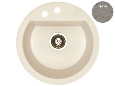 Мойка Alveus Cubo 10 algranit, терра, диаметр 468мм(+сифон) Изображение