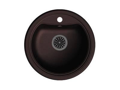 Мойка врезная EW-АR50, цвет шоколад, кварц (+сифон) Изображение