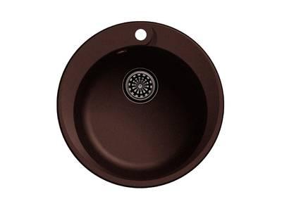 Мойка врезная EW-R45, цвет шоколад, кварц (+сифон) Изображение