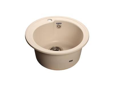 Мойка врезная Rondo GF-R 45см, глубина 19см, цвет белый, мрамор (+сифон) Изображение