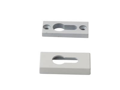 Накладка на цилиндр замка прямоугольная Interplast (30/10 мм, белый) Изображение 3