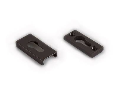 [ПОД ЗАКАЗ] Накладка на цилиндр замка прямоугольная Interplast (30/10 мм, коричневый) Изображение