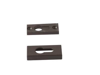 Накладка на цилиндр замка прямоугольная Interplast (30/10 мм, коричневый) Изображение 3