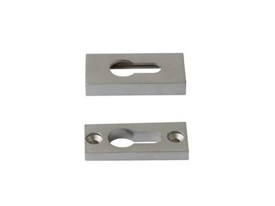 Накладка на цилиндр замка прямоугольная Interplast (30/10 мм, серебристый) Изображение 2