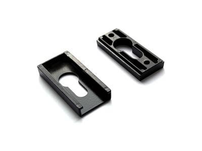 Накладка на цилиндр замка прямоугольная Interplast (30/10 мм, черный) Изображение 2