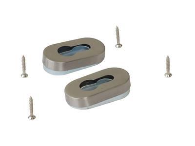 Накладки на профильный цилиндр к нажимному гарнитуру Elementis, нержавеющая сталь Изображение 2
