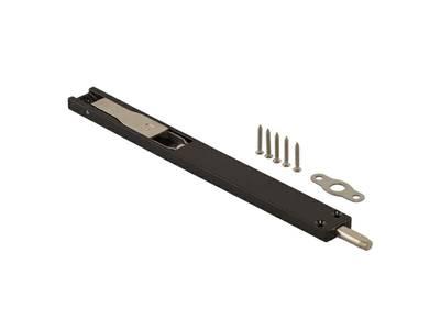 Шпингалет для дверей из алюминия Elementis (220x22x8 мм, чёрный) Изображение
