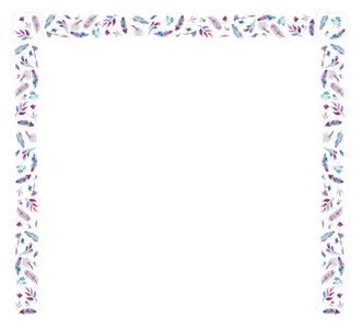 Наличник оконный Qunell N-75мм, УФ-печать (Акварель) белый 3,0 м Изображение 3