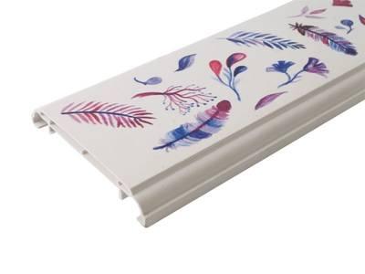Наличник оконный Qunell N-75мм, УФ-печать (Акварель) белый 3,0 м Изображение