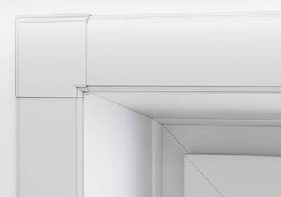 Наличник оконный Qunell N-75мм, УФ-печать (Восточный) белый Изображение 7
