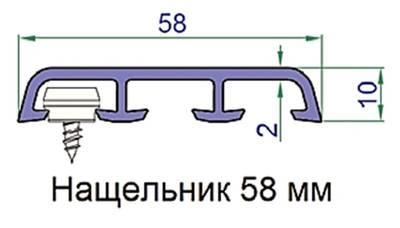 Наличник Exter 58х10 мм R 2052 089 темный дуб 6,0 м Изображение 2