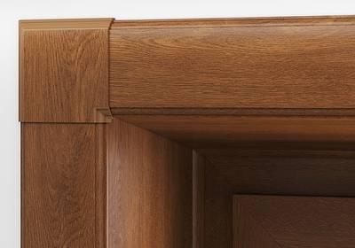 Наличник дверной Qunell N-75мм золотой дуб (Renolit 2178-001) Изображение 4