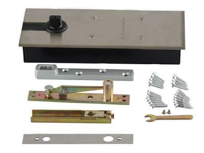 Напольный доводчик Elementis без фиксатора, комплект для алюминиевой двери 800 мм (до 80 кг) Изображение