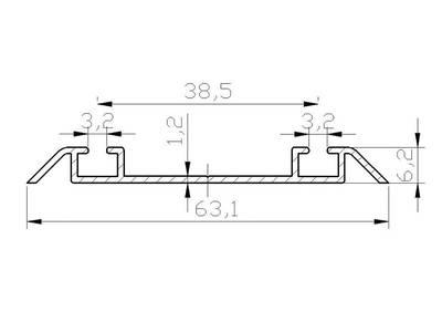 Направляющая нижняя FIRMAX, алюминий в ПВХ,орех, L=5800 мм Изображение 2