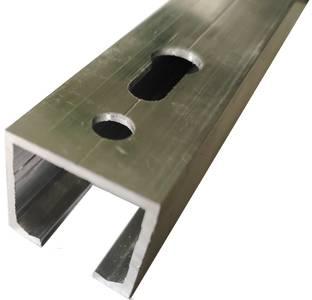 Направляющая верхняя для раздвижных дверей, длина 2 м, алюминий, неокрашенный Изображение
