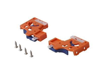 Направляющие скрытого монтажа Firmax (полного выдвижения) L=450мм, для ЛДСП 19 мм с доводчиком, (2 направляющие + 2 крепления) Изображение 2