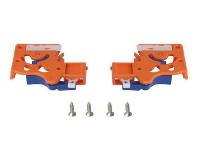 Направляющие скрытого монтажа Firmax (полного выдвижения) L=500мм, для ЛДСП 16 мм с доводчиком, (2 направляющие + 2 крепления) Изображение 2