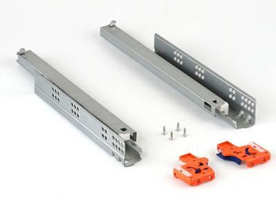 Направляющие Firmax L=600мм, д/ДСП 16мм с доводчиком, (2 напр.+2 крепл) Изображение