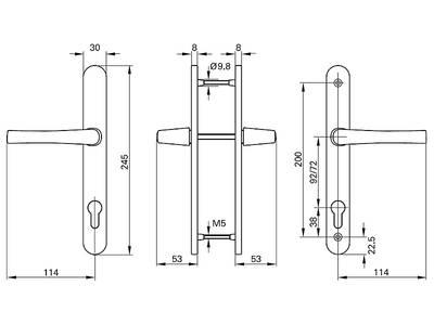 Нажимной гарнитур Roto (245/30/92/8 мм, коричневый) Изображение 2