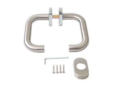 Нажимной гарнитур раздельный Elementis (32.5/8/62.5 мм, овальные накладки, нержавеющая сталь) Изображение 2