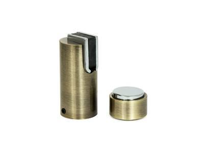 Ограничитель дверной магнитный напольный и настенный 05, старая бронза Изображение