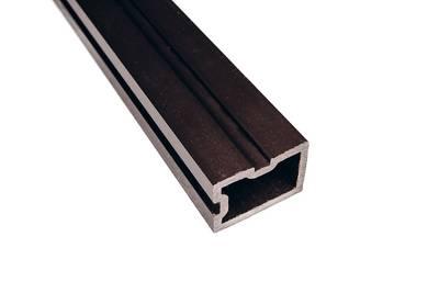 Опорный ригель Wooddecker черный антрацит 40х60х4000 мм Изображение