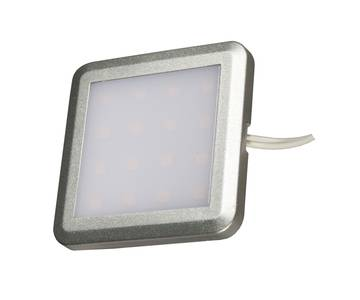 PALIS-18 LED светильник накладной квадратный, серебристый, 12V, нейтральный белый 4000K, 110Lm, 1.3W Изображение