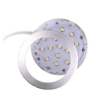 PALIS-19 LED светильник накладной круглый, серебристый, 12V, нейтральный белый 4000K, 110Lm, 1.3W Изображение 3
