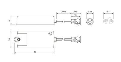 PM-218C Выключатель инфракрасный на взмах, D-14мм, AC220V, 250W Изображение 2