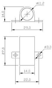 PM-218 Держатель для ИК сенсора  накладной, белый Изображение 2