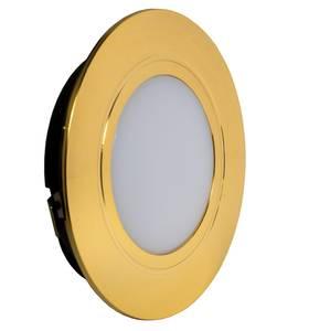 POLUS LED светильник точечный врезной, золото, 220V, теплый белый 3000K, 160Lm, 4W Изображение